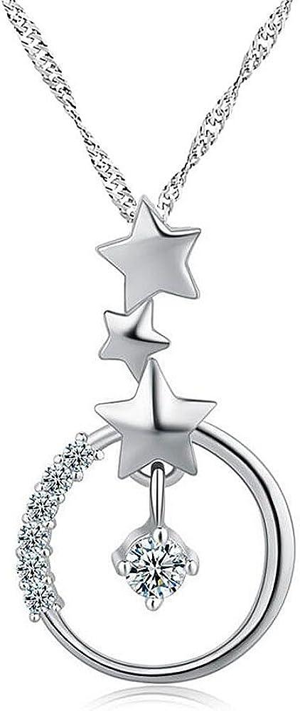 Uniqueen /étoile en argent Sterling Pendentif Collier avec 45/cm Cha/îne en argent pour femme Cadeau