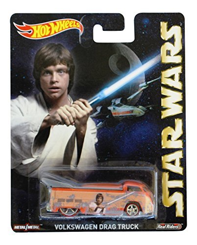 (Hot Wheels Pop Culture, Star Wars, Luke Skywalker's Volkswagen Drag Truck Die-Cast Vehicle)