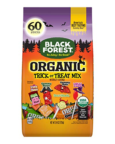 Black Forest Organic Halloween, Trick or Treat Candy Mix, 60ct Bag (24.9-Ounce)