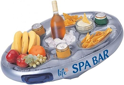 Bandeja para piscina, lateral, inflable, flotante, para alimentos ...