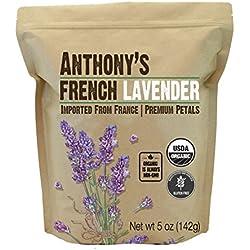 Anthony's Organic French Lavender Petals, 5oz, Extra Grade, Dried, Gluten Free & Non GMO
