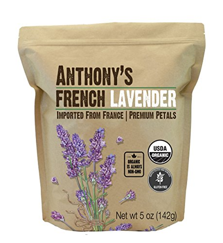 Anthony's Organic French Lavender Petals (5oz), Extra Grade - Dried, Gluten Free & - Flowers Dried Lavender