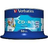 Verbatim 43438 - CD-R 700Mb Spindle 50 Imprimible Inkjet Super Azo, área de impresión: 23 – 118mm