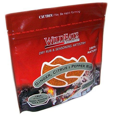 WildEats Ginger, Citrus & Pepper Rub, 3 oz (5 Pack)
