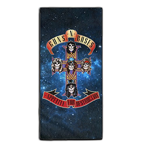 [Guns N' Roses Absorbent Bathroom Beauty Towel One Size] (Womens Axl Rose Costume)