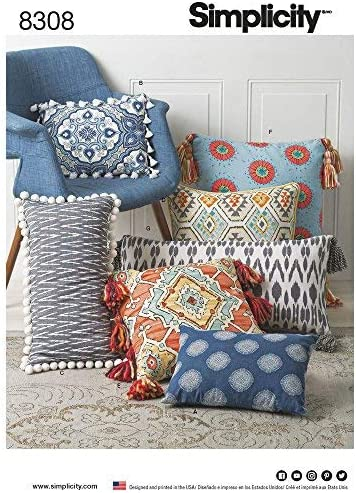Simplicity 4763 Sewing Pattern Pillows in 12 Styles Size One Size