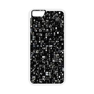 Nuktoe City IPhone 6 Plus Case Virtual City Hardshell for Girls, Iphone 6 Plus Cases for Girls, {White}