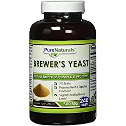 Pure Naturals Brewers Yeast 1000 mg Tablets, 240 Count