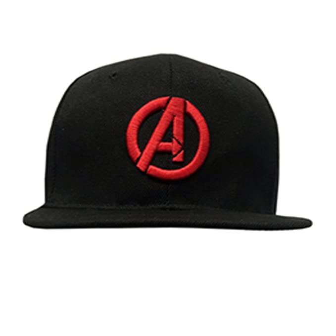 c95297d01236c Image Unavailable. Image not available for. Color  Avenger Logo Marvel  Snapback Hats Flat Peaked Cap ...
