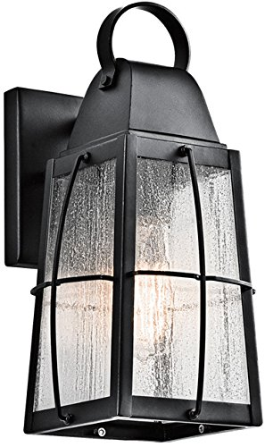 Kichler 49552BKT Tolerand Outdoor Wall 1-Light, Textured Black