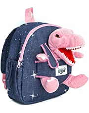 Naturally KIDS Backpack - Toddler Backpack for Girls Boys w Stuffed Animal - Gifts for 3 4 5 6 7 Year Old Boys Toys