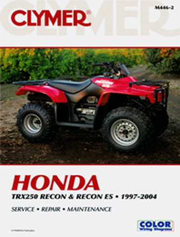 amazon com clymer repair manual for honda atv trx250 recon 97 07 rh amazon com honda trx 250 tm service manual Honda Recon TRX250TM