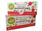 Natural Value Plastic Reclosable Sandwich Bags (2-pack - 100 bags total)