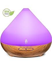 TaoTronics Aroma Diffuser 300ml Luftbefeuchter Oil Düfte Humidifier Holzmaserung LED mit 7 Farben für Yoga Salon Spa Wohn-, Schlaf-, Bade- oder Kinderzimmer Hotel