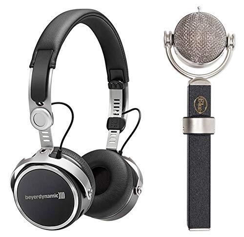 Blue Dragonfly Condenser Rotating Microphone+Beyerdynamic Wireless Headphones