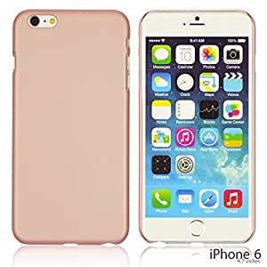 OnlineBestDigital - Comfortable Ultra Thin Solid Color Oil Coated Hard Case for Apple iPhone 6 (4.7 inch)Smartphone - Pink