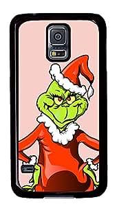 Samsung Galaxy S5 Christmas Green Monster PC Custom Samsung Galaxy S5 Case Cover Black