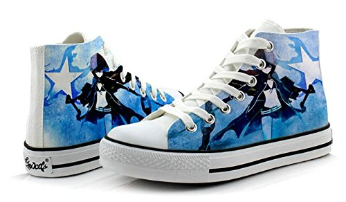 Shooter Nero Rock Scarpe Cosplay Scarpe Sneakers Colorate 4 Scelte Foto 4