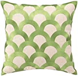 D.L. Rhein Avocado Scales Embroidered Pillow by D.L. Rhein