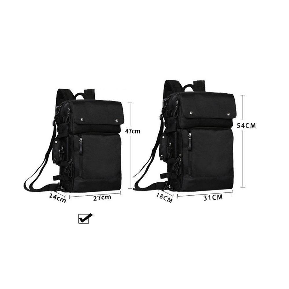 Mens briefcase Business Travel Multifunctional Backpack Travel Male Color : Gray, Size : XL XFRJYKJ