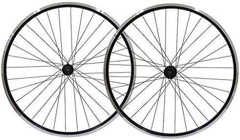 "GXFWJD 自転車ホイールセット26"" 黒 自転車の車輪 MTB ダブルウォールアロイリム タイヤ1.75-2.1"" V-ブレーキ 7-11速度 密閉ハブ クイックリリース 32H"