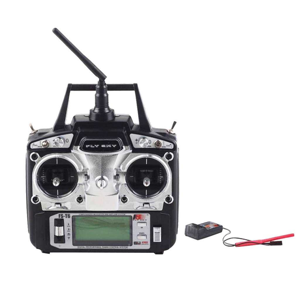 MagiDeal Flysky FST6 2.4G 6Channel AFHDS Transmitter with FSR6B Receiver for RC Quadcopter Multiredor Drone Airplane (Complete Set)