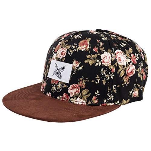 Phoenix Gorro de Snapback con Bordado o el Diseño Floral Unisexo del Sombrero Gorra de Beisbol Hombre Mujeres Casquillo Black Beauty Vol. III