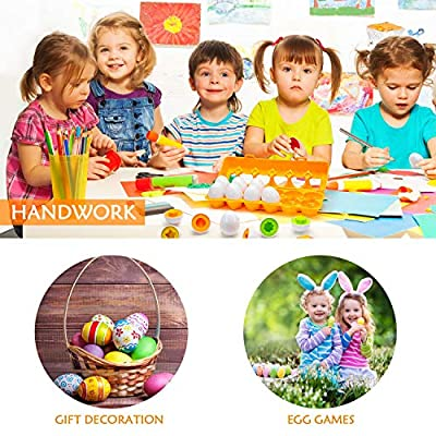 24 Pieces Easter Matching Eggs Sorting and Matching Educational Egg Toy Learning Vegetables Fruits Egg Sets to Learn Colors Shapes Fine Motor Recognition Skill for Boys and Girls Easter Gift Eggs: Toys & Games