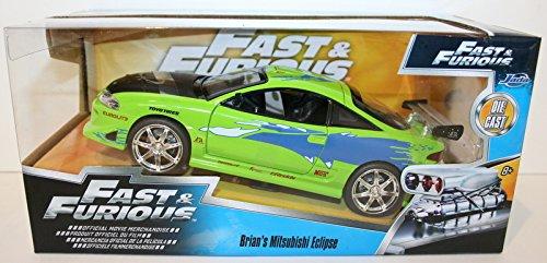 New 1:24 DISPLAY - Fast & Furious - GREEN BRIAN'S MITSUBISHI ECLIPSE Diecast Model Car By Jada Toys by Jada