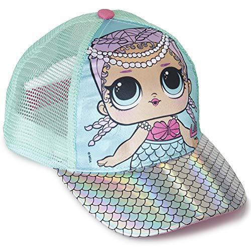 L.O.L. Surprise ! Gorra De Béisbol Premium para Niña | Gorras De Verano En Purpurina Azul Y Rosa Brillante | Producto…