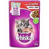 Ração Úmida Para Gatos Whiskas Sachê Carne ao Molho Filhotes 85g