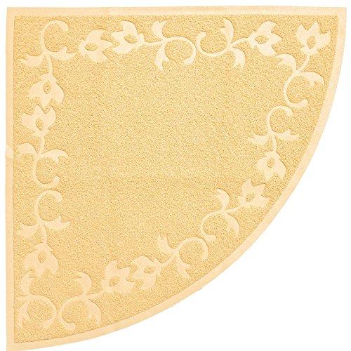 """Large CORNER Litter Mat 23"""" x 23"""" Cat Litter Mat, Traps Messes, Easy Clean, Durable, Non Toxic Trapper Rug - Litter Box Mat, Cat Mat, Kitty Litter Mat"""