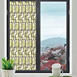 Best Home Fashion Non-adhesive Frosted Privacy Window Films - TecBillion Privacy Window Film Decorative,Geometric,for Glass Non-Adhesive,Sixties Fashion Review