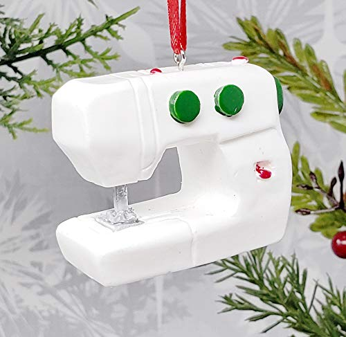Sewing Machine Christmas Ornament/Classic Holiday Decor/Seamstress Gift/Sewing Present/Handmade Christmas Ornament from Athletic Homestyles