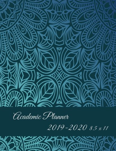 Academic Planner 2019-2020 8.5 x 11: Art Classic Blue Color, Two year Academic 2019-2020 Calendar Book, Weekly/Monthly/Yearly Calendar Journal, Large ... Calendar Schedule Organizer Journal Notebook