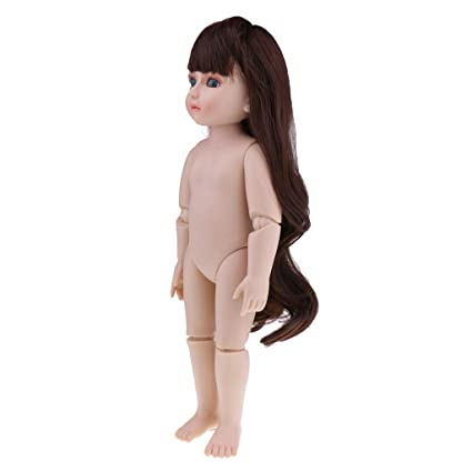 Image Unavailable. Image not available for. Color  Baoblaze Cute Flexible Dolls  Nude Body ... efc8c057bd23