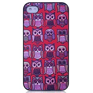 TOPQQ Lureme Colorful Cool Owls Pattern Hard Case for iPhone 4/4S