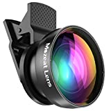 Mozeat Lens 2-in-1 Cellphone Camera Lens Kit, 0.45X Wide Angle and 15X Macro Lens for iPhone Smartphones (Not Fit for Samsung)