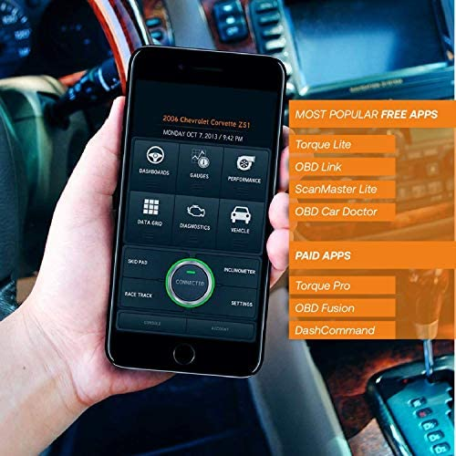 iOS /& Android Devices Only Diagnose 3000 Car Codes Auto Scanner For 1996+ Vehicles OBD2 Scanner /& WIFI Car Code Reader Clears Check Engine Lights Instantly Wireless Car Diagnostic Scanner