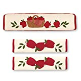 Country Apple Appliance Handle Covers - 3pc