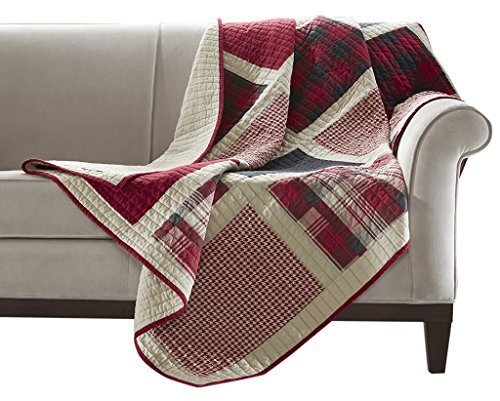 red quilted throw blankets - 9