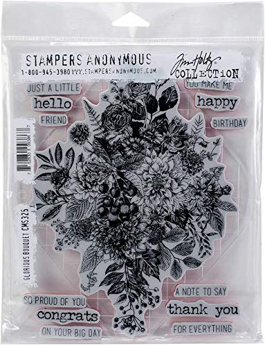 Tim Holtz Stampers Anonymous Glorious Bouquet Cling