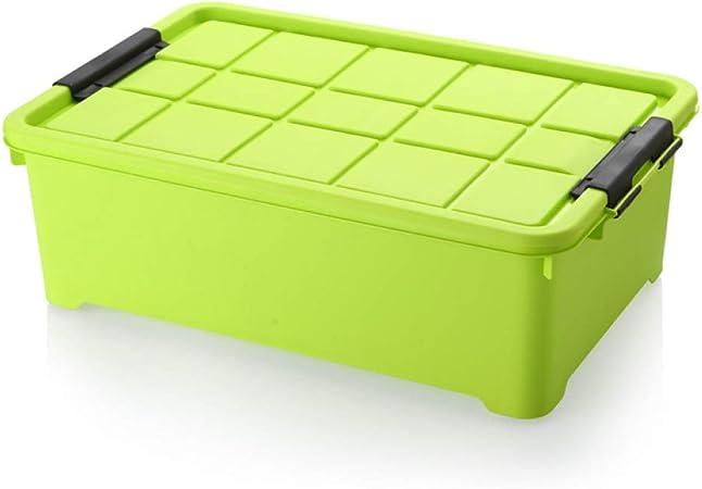 WYCD Caja De Almacenamiento Multiusos Bajo Cama Ruedas Plástico con Tapa para Ropa De Cama Libro Merienda,Green: Amazon.es: Hogar