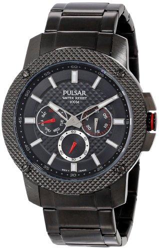 Pulsar Men's PP6103 Analog Display Japanese Quartz Black Watch