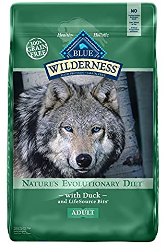 BLUE Wilderness Adult Grain-Free Duck Dry Dog Food 24-lb (On Amazon Premium Dry)
