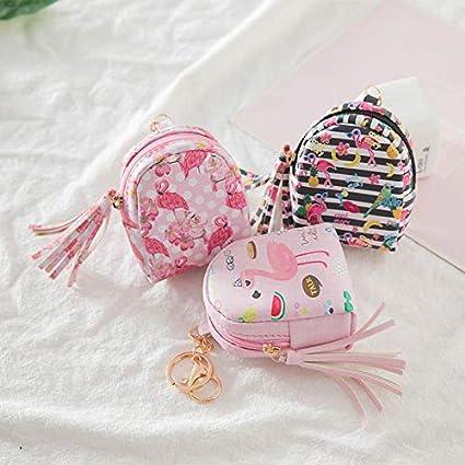 Adaap Creative Coin Purse Cartoon Cute Pink Flamingo Pattern Mini Backpack Girl Clutch Bag 10cm/×8cm/×4.5cm
