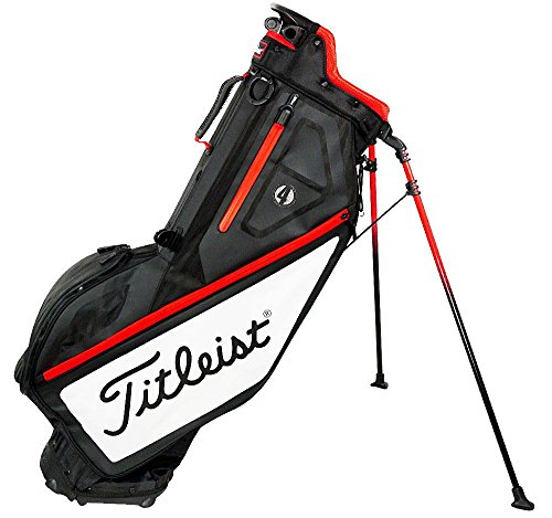 - Titleist 2017 Players 4 Stand Bag (One Size, Black/White/Red)