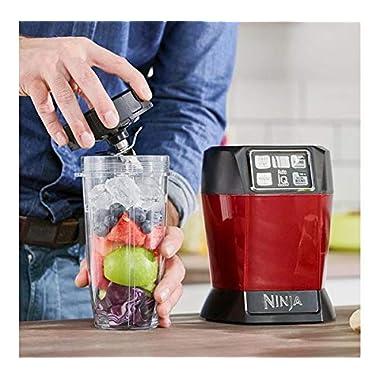 Nutri Ninja Auto-IQ Blender, 1000W, 1 Jar (Red) 9