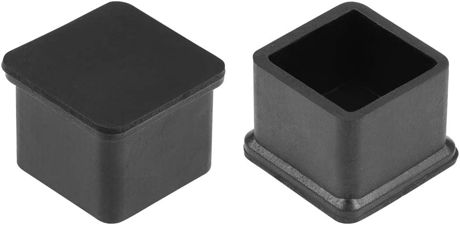 uxcell Rubber Furniture Caps 25mm x 25mm Square Shaped Table Chair Legs Covers 12Pcs