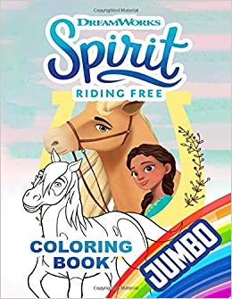 spirit riding free jumbo coloring book coloring book for kids and adults over 100 pages